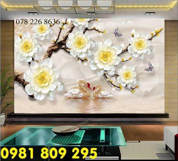Tranh 3d hoa ngọc kim cương - gạch tranh 3d tráng trí