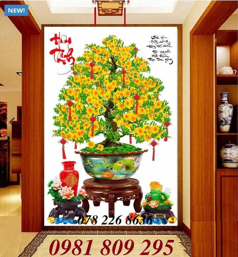 Hoa mai lộc vàng - gạch tranh 3d