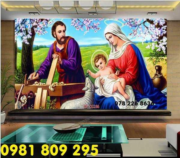 Thiên chúa 3d - gạch tranh 3d công giáo dán tường4