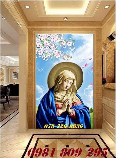 Thiên chúa 3d - gạch tranh 3d công giáo dán tường1