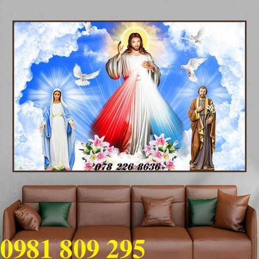 Thiên chúa 3d - gạch tranh 3d công giáo dán tường0