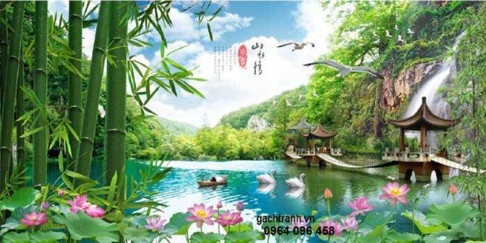 Tranh gạch phong cảnh thiên nhiên 3d - CBV545