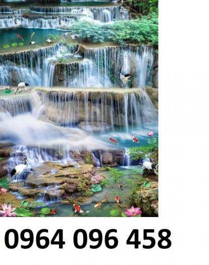 Tranh gạch phong thủy thác nước chảy - CB5410