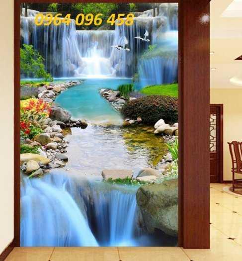 Tranh gạch phong thủy thác nước chảy - CB543