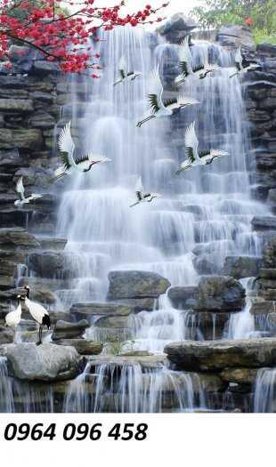 Tranh gạch phong thủy thác nước chảy - CB540
