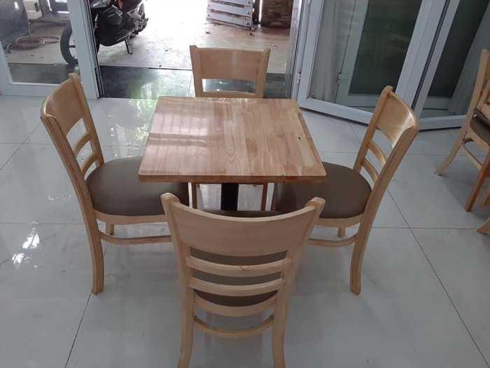 Bộ bàn ghế gỗ cafe giá tại xưởng