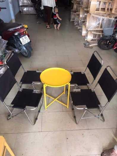 Bộ bàn ghế xếp cafe giá tại xưởng2