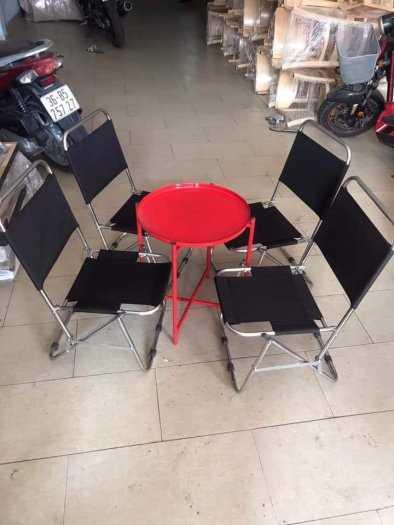 Bộ bàn ghế xếp cafe giá tại xưởng