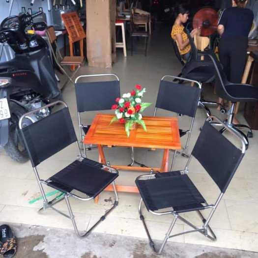 Bộ bàn ghế xếp cafe giá tại xưởng0