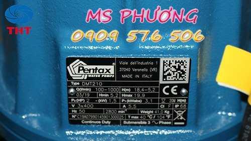 Bán máy bơm chìm nước thải công nghiệp Pentax giá tốt0