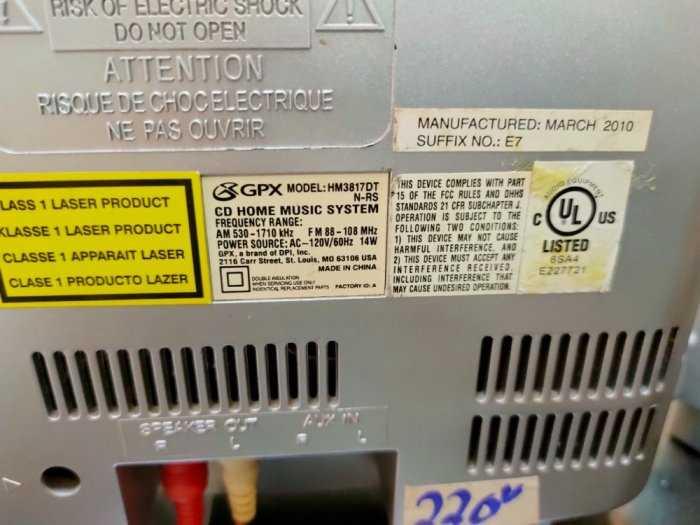 Dàn máy CD mini GPX HM3817DT .0