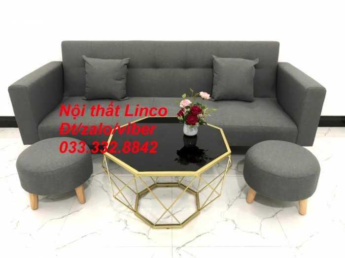 Combo bộ ghế sofa giường, sofa băng bật giường nằm phòng khách sfgtv04 xám lông chuột Nội thất Linco HCM Tphcm SG Sài gòn gò vấp1