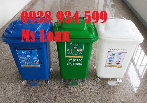 Thùng rác 60 lít, thùng rác y tế 60 lít, thùng rác y tế đạp chân 60 lít2