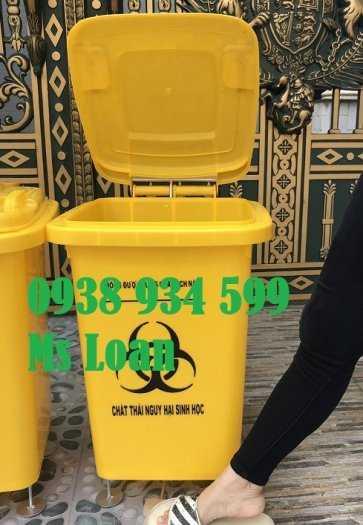 Thùng rác 60 lít, thùng rác y tế 60 lít, thùng rác y tế đạp chân 60 lít1