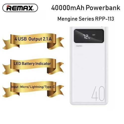 Pin dự phòng REMAX 40.000MAH RPP-113 chính hãng6