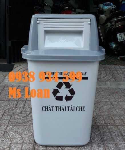 Thùng rác nắp bập bênh 60l, thùng rác nhựa 60 lít7