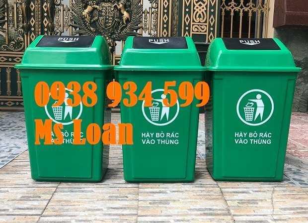 Thùng rác nắp bập bênh 60l, thùng rác nhựa 60 lít6