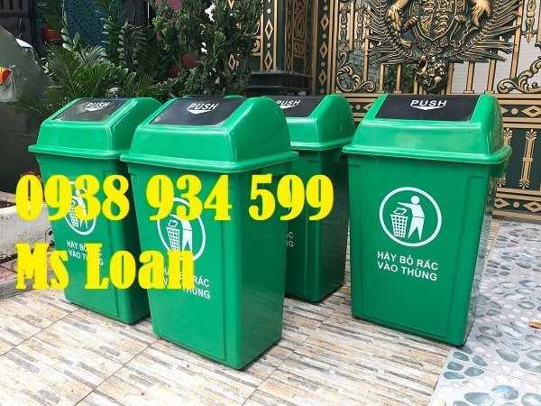 Thùng rác nắp bập bênh 60l, thùng rác nhựa 60 lít4