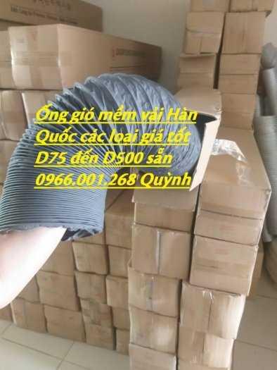 Chuyên cung cấp ống gió mềm vải Hàn Quốc phi 100,phi 125,phi 150,phi 200,phi 300 giá tốt nhất2