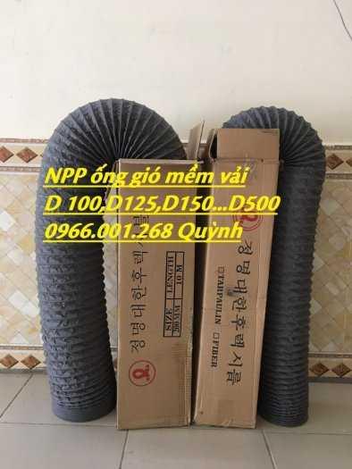 Chuyên cung cấp ống gió mềm vải Hàn Quốc phi 100,phi 125,phi 150,phi 200,phi 300 giá tốt nhất1