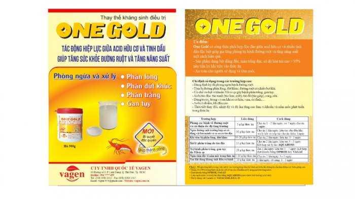 ONE GOLD - Phòng trị phân lỏng, phân đứt khúc trên tôm0