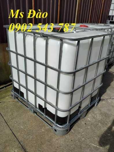 Thùng nhựa vuông 1000 lít đựng hóa chất ,bồn nhựa 1000 lít ,tank nhựa ibc 1000 lít2