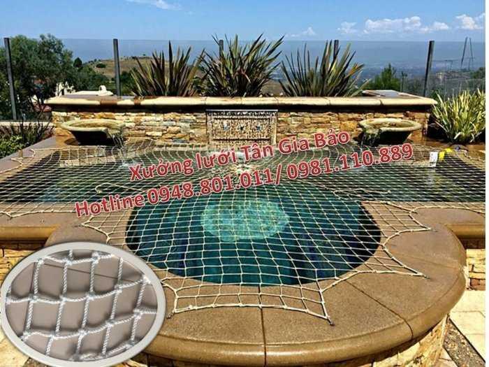 Lưới an toàn bể bơi, lưới căng an toàn khu trống rộng3