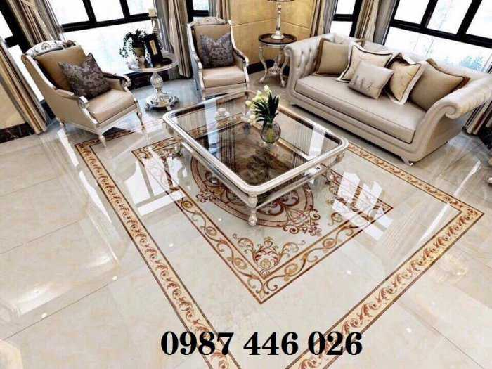 Gạch thảm phòng khách, gạch lát nền, gạch hoa văn HP82227
