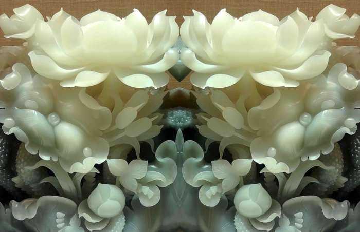 Tranh hoa sen, gạch ốp tường, tranh trang trí 3d HP82119