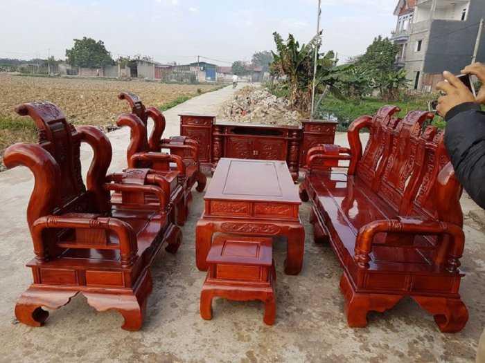 Bộ bàn ghế tần thủy hoàng gỗ xà cừ0