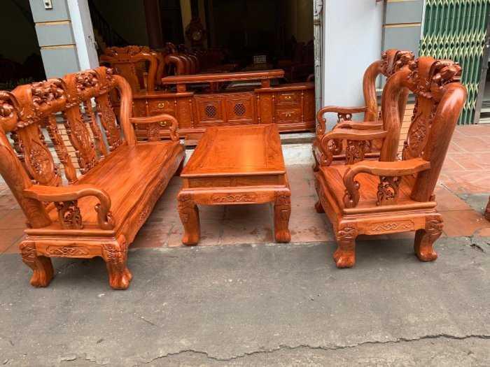 Bộ bàn ghế đồng kỵ minh quốc đào gỗ hương đ7