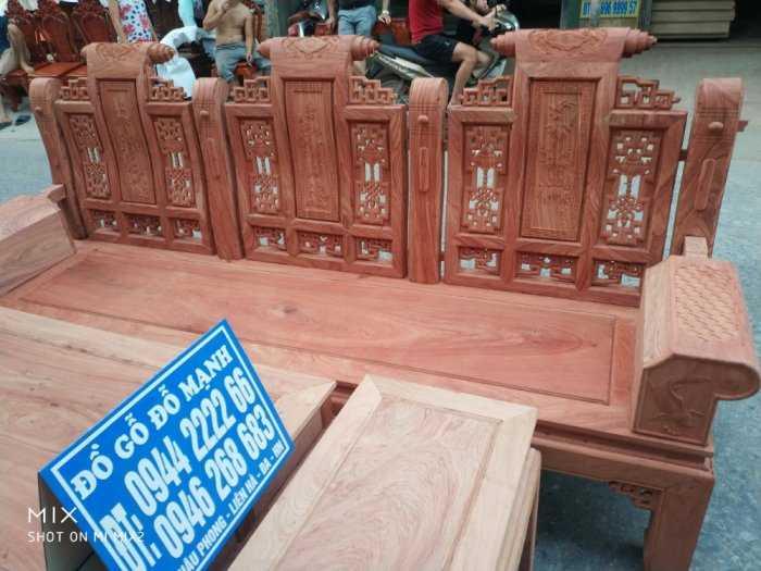Bộ bàn ghế Âu Á hộp kiểu cuốn thư gỗ hương đá10
