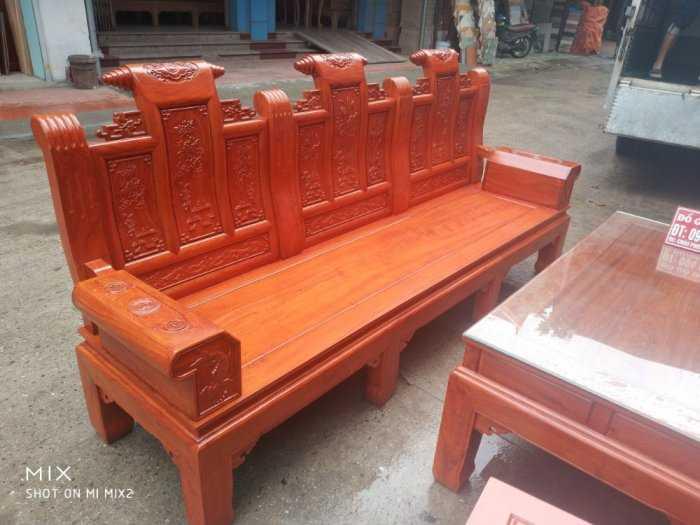 Bộ bàn ghế Âu Á hộp kiểu cuốn thư gỗ hương đá9