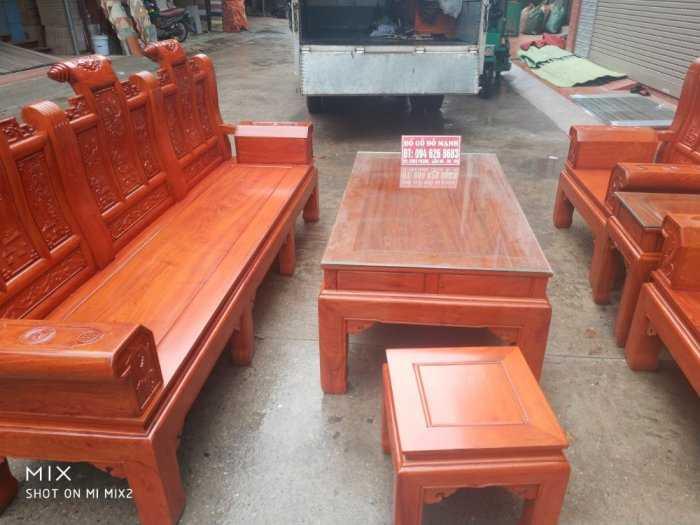 Bộ bàn ghế Âu Á hộp kiểu cuốn thư gỗ hương đá7