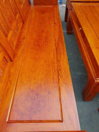 Bộ bàn ghế Âu Á hộp kiểu cuốn thư gỗ hương đá4