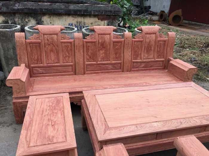 Bộ bàn ghế Âu Á hộp kiểu cuốn thư gỗ hương đá1