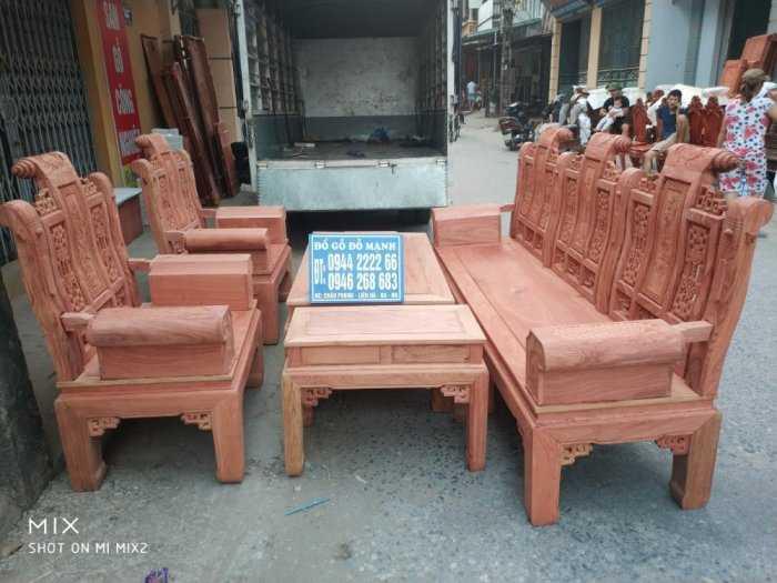 Bộ bàn ghế Âu Á hộp kiểu cuốn thư gỗ hương đá0