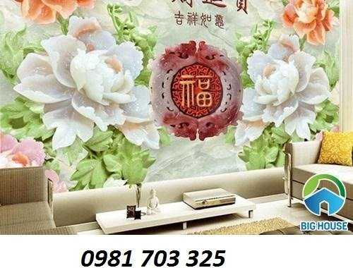 Tranh hoa- gạch tranh hoa mẫu đơn5