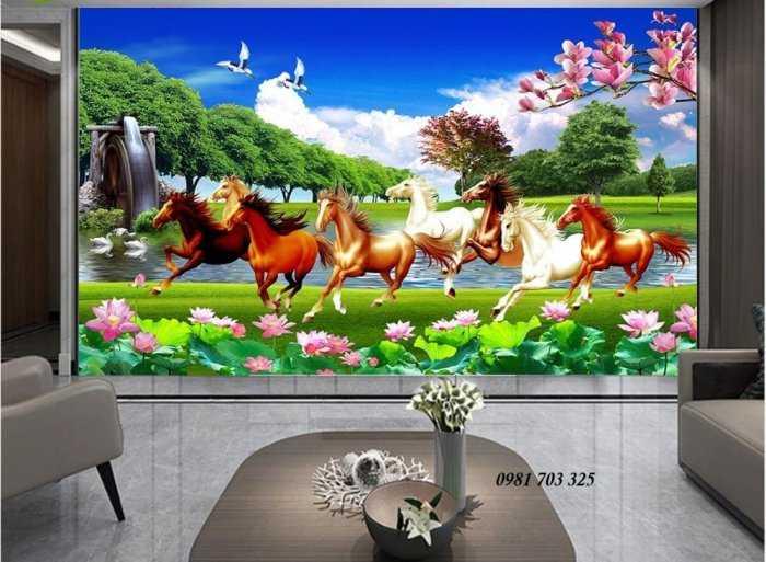 Tranh ngựa- gạch tranh 3D bát mã0