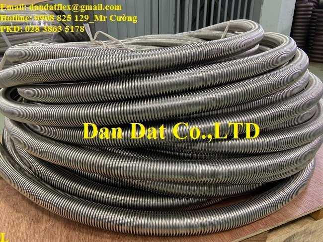 Ống inox công nghiệp, ống mềm chịu nhiệt đàn hồi không lưới chịu được nhiệt độ max 350 độ C3