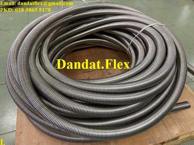 Ống inox công nghiệp, ống mềm chịu nhiệt đàn hồi không lưới chịu được nhiệt độ max 350 độ C1