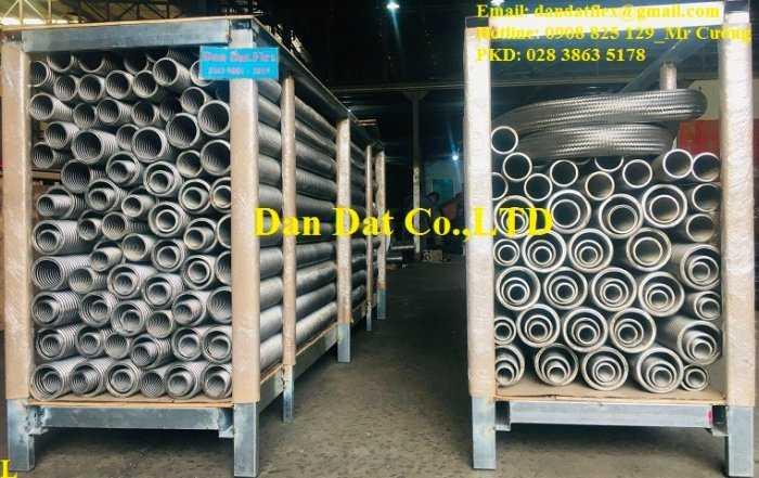 Ống inox công nghiệp, ống mềm chịu nhiệt đàn hồi không lưới chịu được nhiệt độ max 350 độ C0