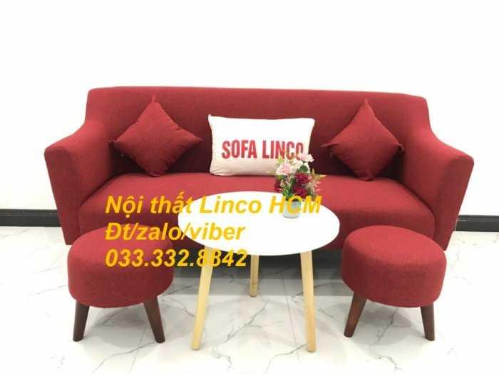 Bộ bàn ghế Sofa băng văng dài SFBg02 đỏ giá rẻ phòng khách Nội thất Linco Tphcm Sài Gòn quận gò vấp, tân bình, tân phú3