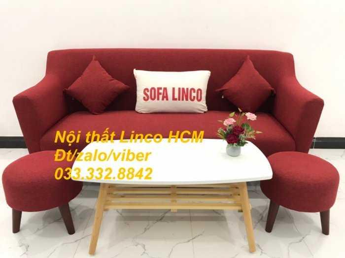 Bộ bàn ghế Sofa băng văng dài SFBg02 đỏ giá rẻ phòng khách Nội thất Linco Tphcm Sài Gòn quận gò vấp, tân bình, tân phú2