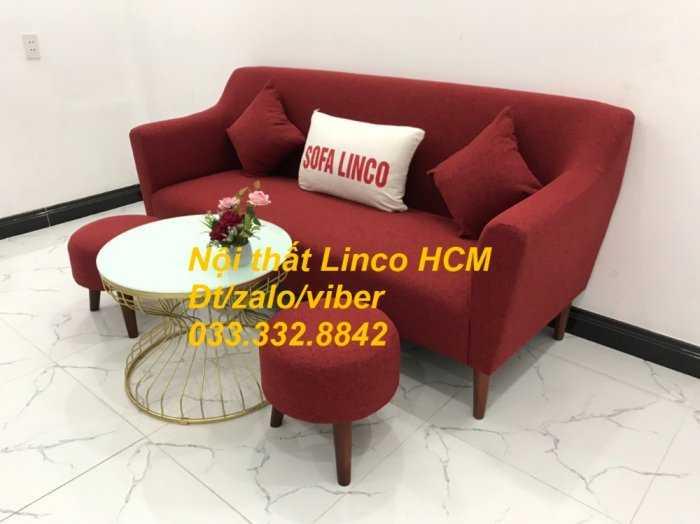 Bộ bàn ghế Sofa băng văng dài SFBg02 đỏ giá rẻ phòng khách Nội thất Linco Tphcm Sài Gòn quận gò vấp, tân bình, tân phú1