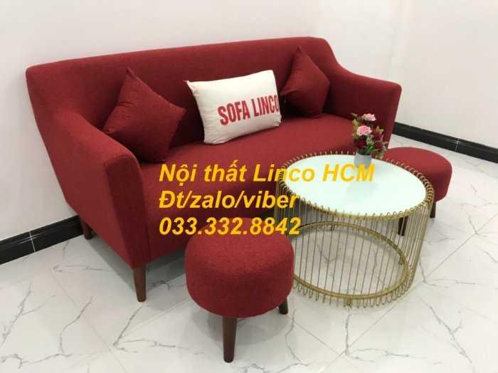 Bộ bàn ghế Sofa băng văng dài SFBg02 đỏ giá rẻ phòng khách Nội thất Linco Tphcm Sài Gòn quận gò vấp, tân bình, tân phú0