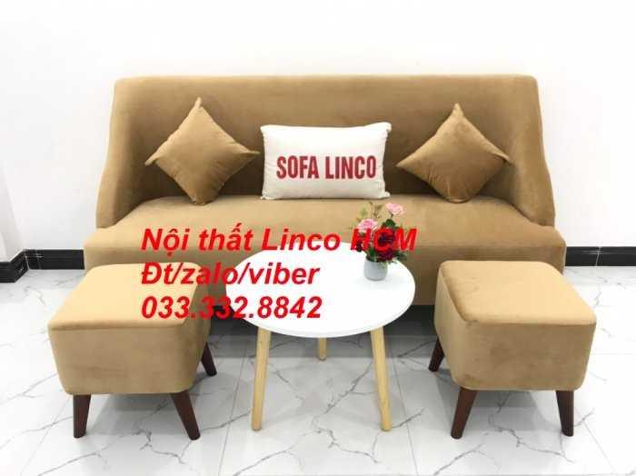 Bộ bàn ghế Sofa băng văng dài SFBg04 màu nâu sữa giá rẻ Nội thất Linco Tphcm Sg HCM Sài Gòn quận bình thạnh, gò vấp, hóc môn, củ chi3