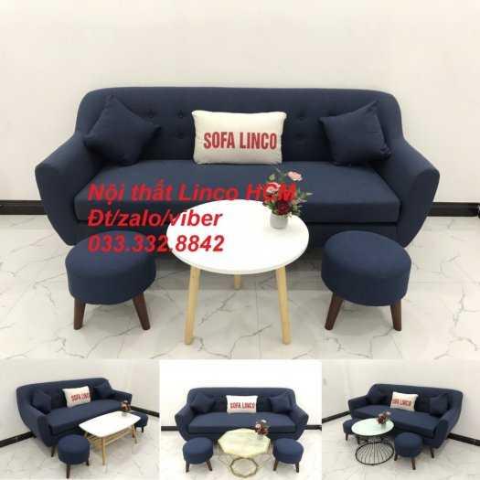 Bộ bàn ghế Sofa băng SFBg10 xanh dương đậm Nội thất Linco Tphcm Sài Gòn HCM, quận tân phú, thủ đức, quận 2 9 cần giờ4