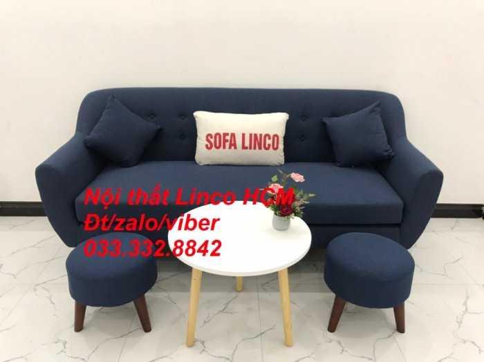 Bộ bàn ghế Sofa băng SFBg10 xanh dương đậm Nội thất Linco Tphcm Sài Gòn HCM, quận tân phú, thủ đức, quận 2 9 cần giờ3