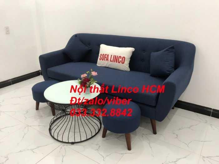 Bộ bàn ghế Sofa băng SFBg10 xanh dương đậm Nội thất Linco Tphcm Sài Gòn HCM, quận tân phú, thủ đức, quận 2 9 cần giờ1